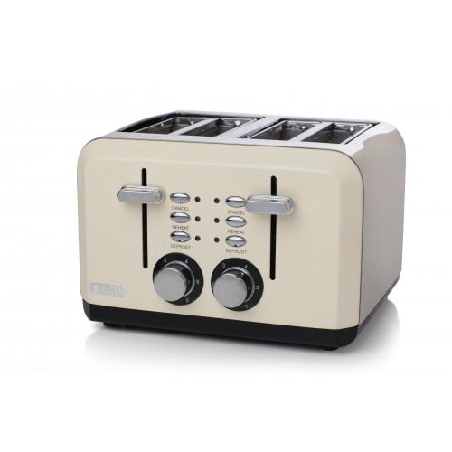 Haden Perth Sleek 4 Slice Toaster - Cream
