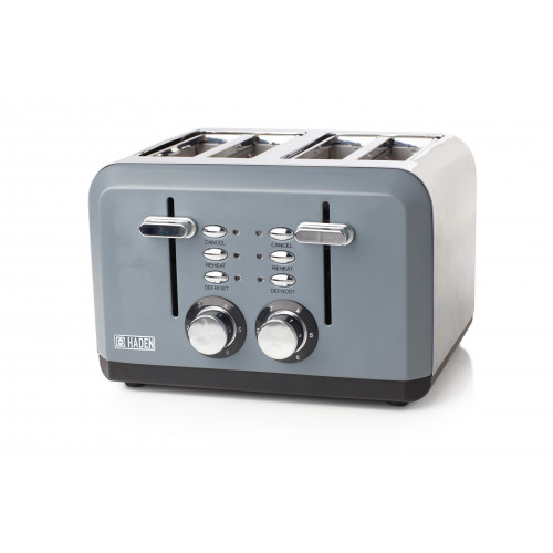 Haden Perth Sleek 4 Slice Toaster - Slate Grey