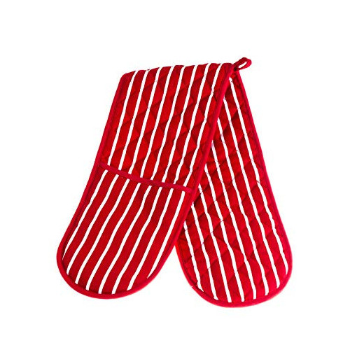 Red Stripe Double Oven Glove