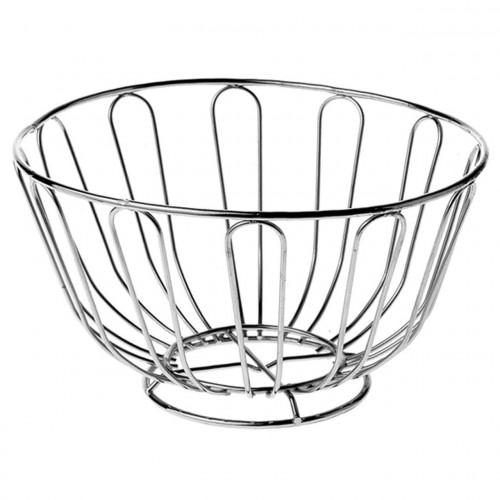 Chrome Round Fruit Bowl