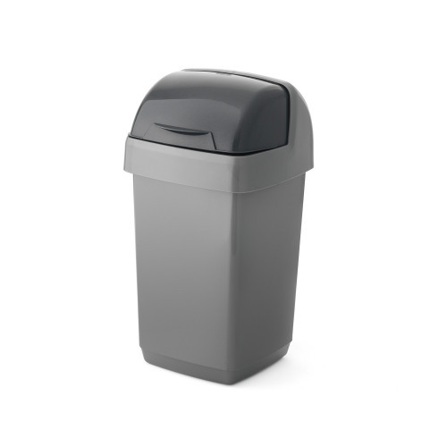 Addis 10 Litre Roll Top Bin Silver