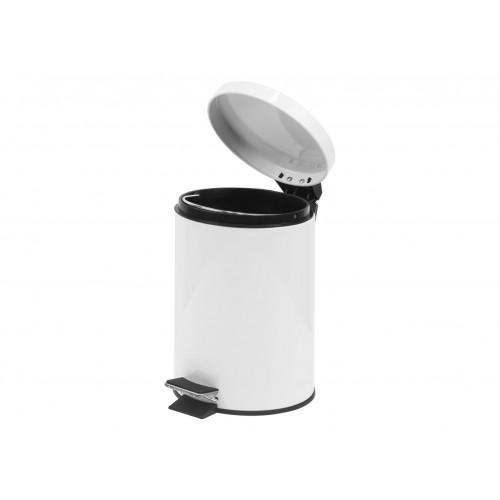 Croft 3 Litre Pedal Bin White (Box of 6)