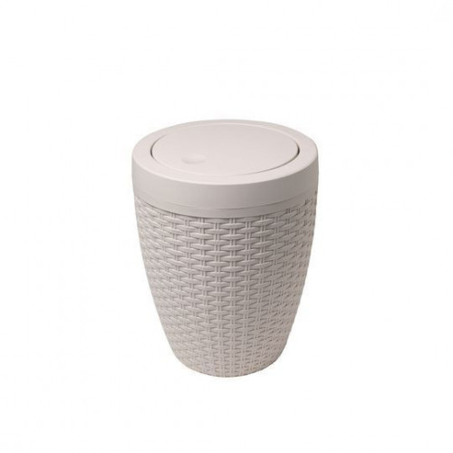 Addis Faux Rattan Bathroom Bin