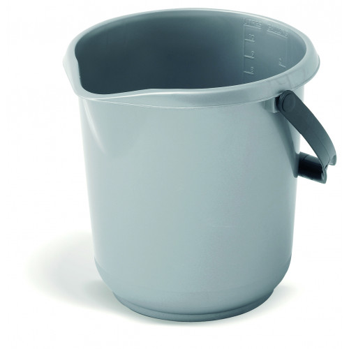 Addis 10 Litre Bucket Silver