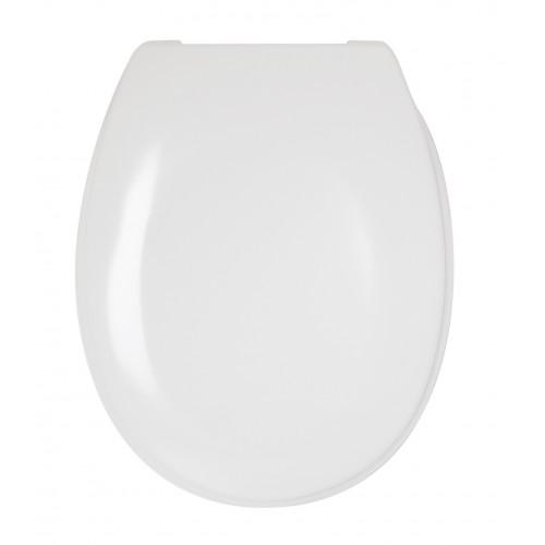 White Plastic Toilet Seat