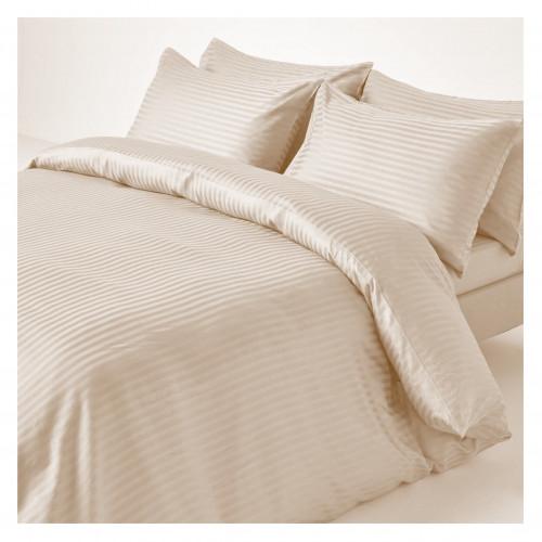 Oatmeal Satin Stripe Single Pillowcase