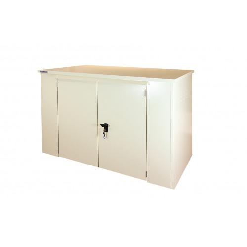 Safestor Shed 6ft x 3ft in Light Ivory