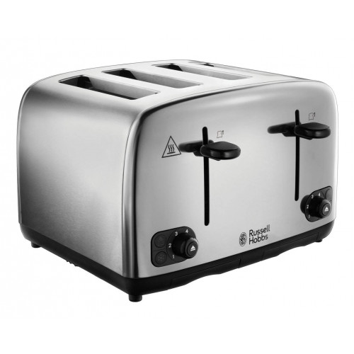 Russell Hobbs Adventure 4 Slice Toaster - Brushed Stainless Steel