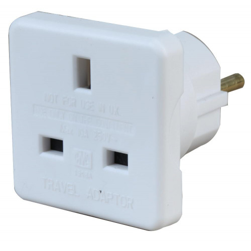 Single UK to Euro Plug Adaptor