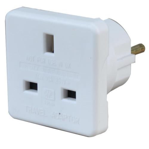 Single UK to Euro Plug Adaptor