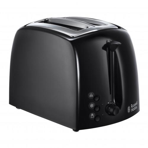 Russell Hobbs Black Textures 2 Slice Toaster 850w