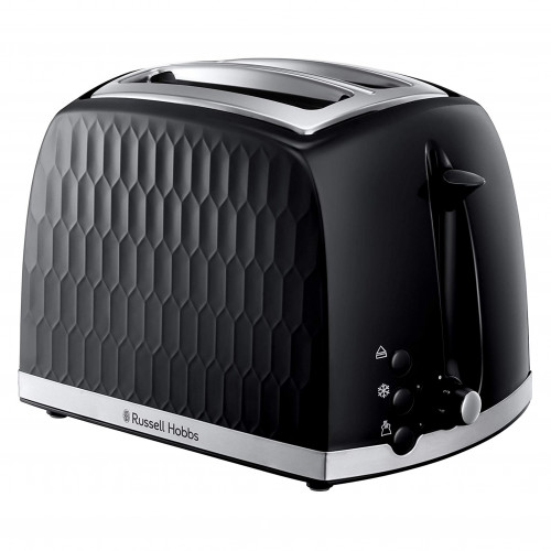Russell Hobbs Black Honeycomb 2 Slice Toaster 850w