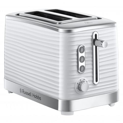 Russell Hobbs White Inspire 2 Slice Toaster