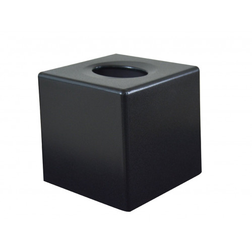 Devon Cube Tissue Box Cover - Textured Black (Box of 6)