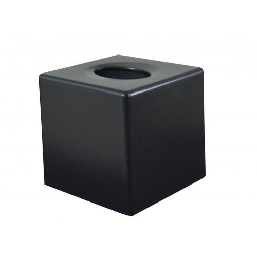 Devon Cube Tissue Box Cover - Textured Black (Box of 6)