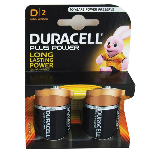 D Batteries (Box of 2)