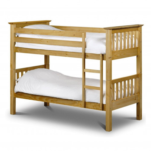 Barcelona Bunk Bed - Solid Pine - Antique Finish 90cm
