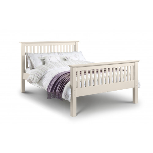 Barcelona High Foot End Bed in Stone White