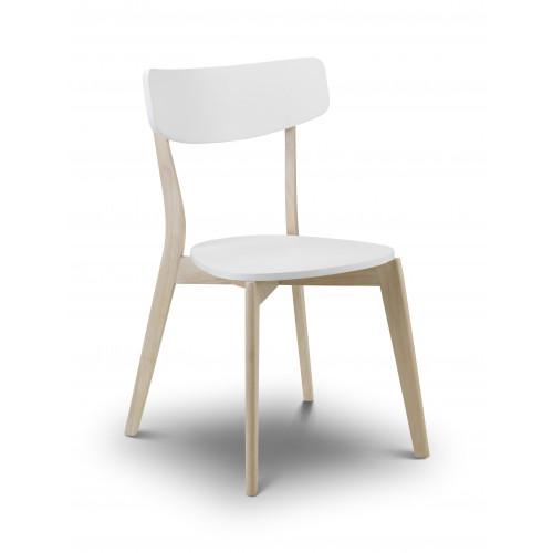 Casa Dining Chair - Oak & White
