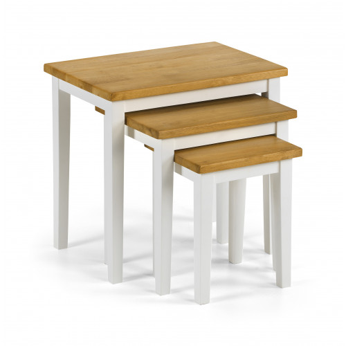 Cleo Nest of Tables - White/Oak
