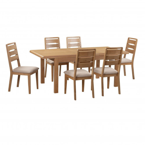 Curve Extending Dining Table & 6 Chairs