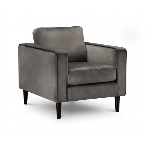 Hayward Grey Velvet Armchair