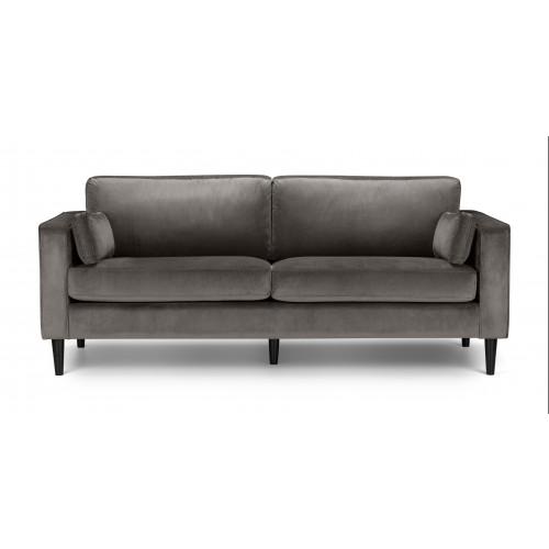 Hayward Grey Velvet 3 Seater Sofa
