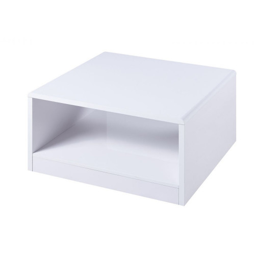 Manhattan High Gloss White Square Coffee Table