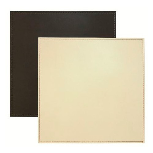 Faux Leather Reversible Cream and Brown Faux Leather Placemats Coasters